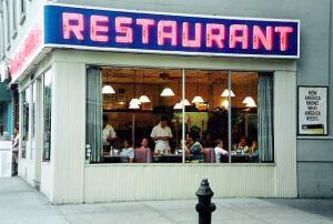 """Seinfeld """"Monk's"""" Restaurant- by Rick Dikeman"""